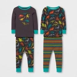 Toddler Boys' 4pc Dinosaur Pajama Set - Cat & Jack™ Dark Purple/Aqua