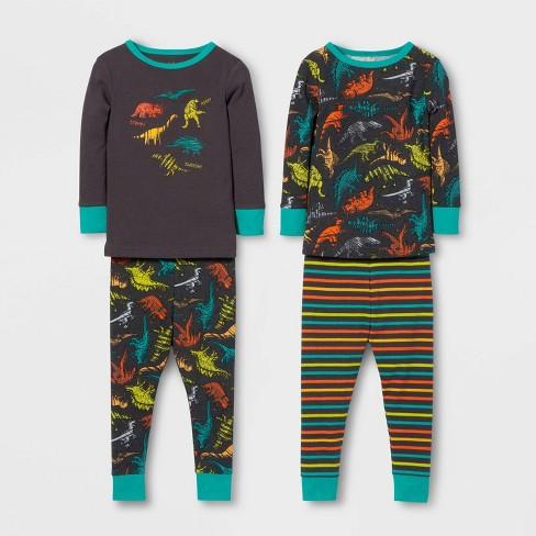 Toddler Boys' 4pc Dinosaur Pajama Set - Cat & Jack™ Dark Purple/Aqua - image 1 of 1