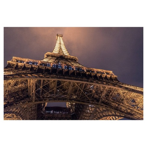 Twilight Eiffel By Chris Coudron Wrapped Unframed Wall Canvas Art - Masterpiece Art Gallery - image 1 of 4