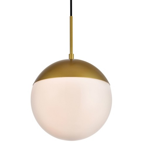 "Elegant Lighting LD6036 Eclipse Single Light 10"" Wide Pendant with Frosted Glass - image 1 of 3"