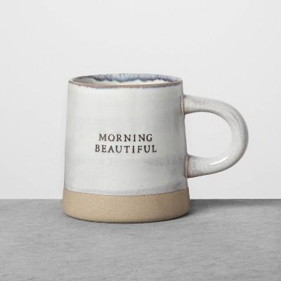 Reactive Glaze Stoneware Mug Morning Beautiful Blue - Hearth & Hand™ with Magnolia