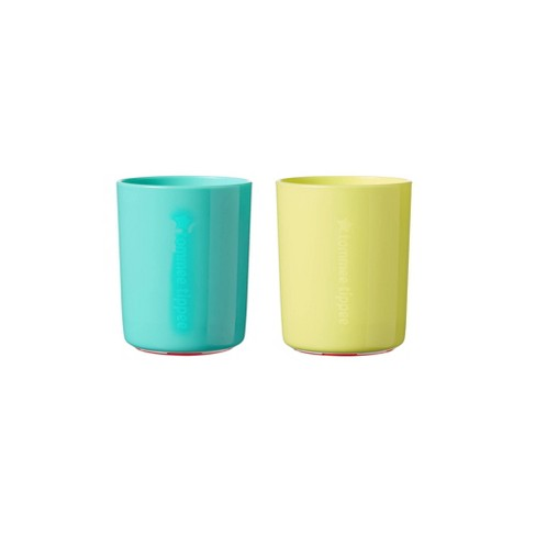 Tommee Tippee No Knock Toddler Cup - 2pk/12oz Aqua/Yellow - image 1 of 6