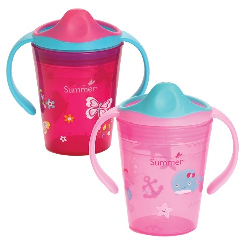 Summer Infant® Sippy Stackers™ <BR/> 6oz Training Cup 2-Pack - Pink & Red - image 1 of 5