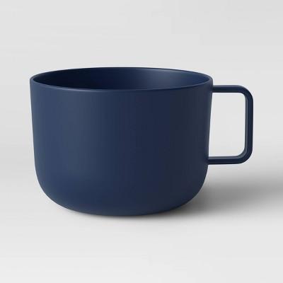 30oz Plastic Soup Mug Dark Blue - Room Essentials™