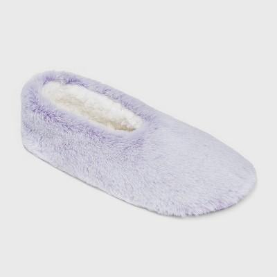 Women's Faux Fur Cozy Pull-On Slipper Socks - Stars Above™