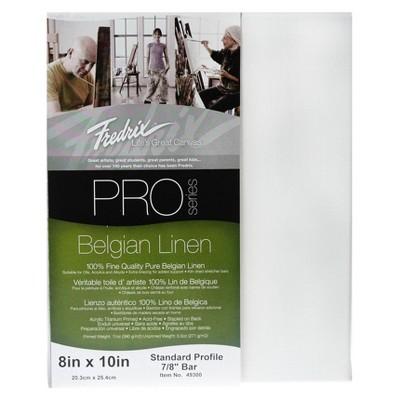 "Fredrix Pro Belgian Linen Pre-Stretched Canvas, 8 X 10"""