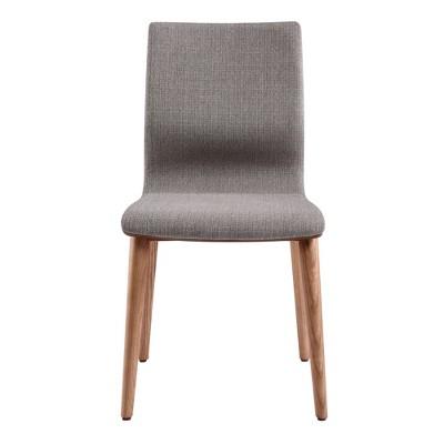 Set of 2 Robin Mid-Century Dining Chair Gray - Armen Living