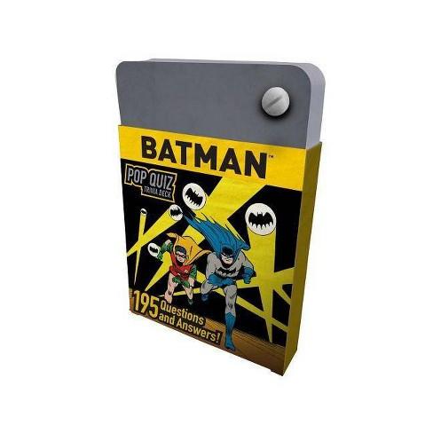 Dc Comics Batman Pop Quiz Trivia Deck By Mike Avila Hardcover Target