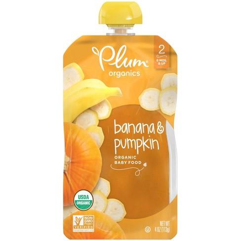 Plum Organics Baby Food Stage 2 Pumpkin & Banana 4oz - image 1 of 7