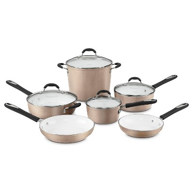 Cuisinart® Elements Nonstick 10 Piece Cookware Set w/cover - Champagne 59-10CH