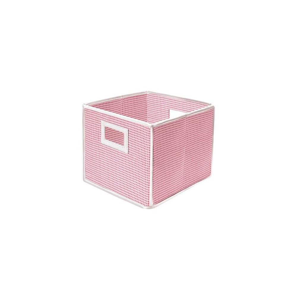 Image of Badger Basket Fabric Cube - Gingham Pink