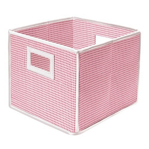 Badger Basket Fabric Cube - Gingham Pink - image 1 of 2