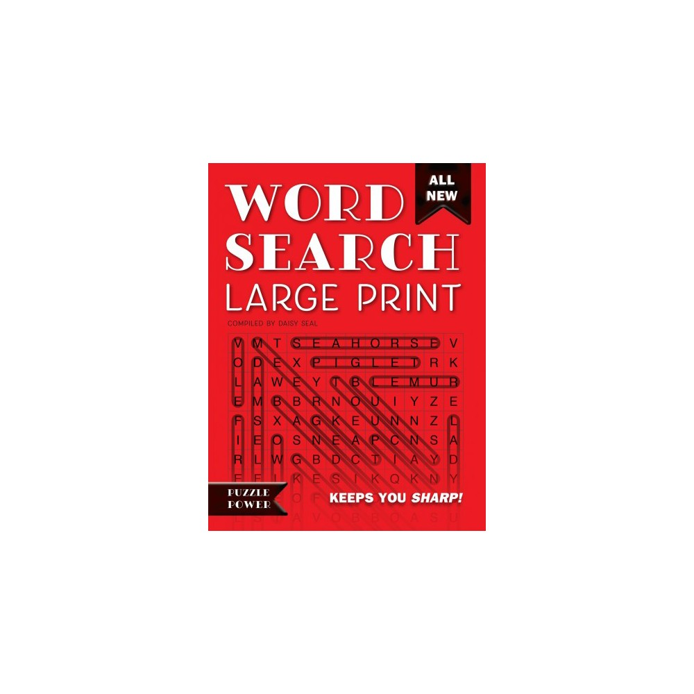 Word Search : Puzzle Power: Red Edition - Lrg New (Paperback)