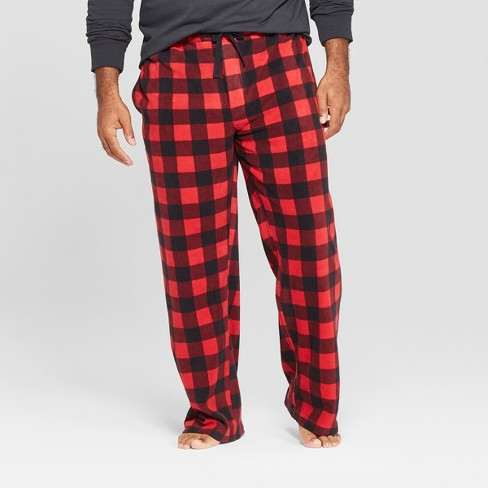 20e23b862 Men s Big   Tall Micro Fleece Pajama Pants - Goodfellow   Co™ Red ...