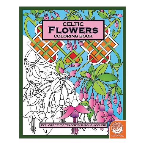 MindWare Celtic Flowers Coloring Book - Coloring Books - image 1 of 2