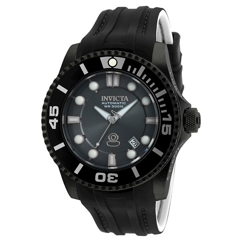 Men's Invicta 20206 Pro Diver Automatic 3 Hand Charcoal Dial Strap Watch - Charcoal - image 1 of 1