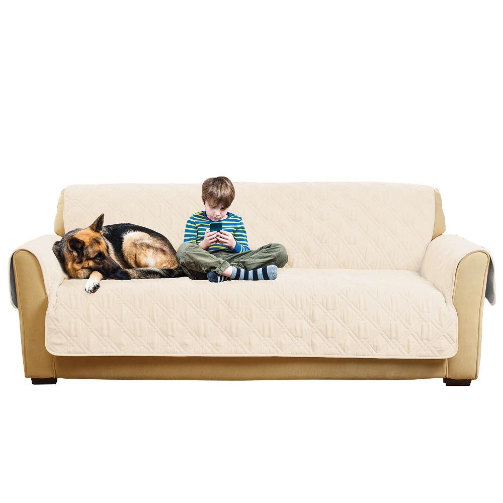 Non-Slip/Waterproof Sofa Furniture Protector Cream (Ivory) - Sure Fit