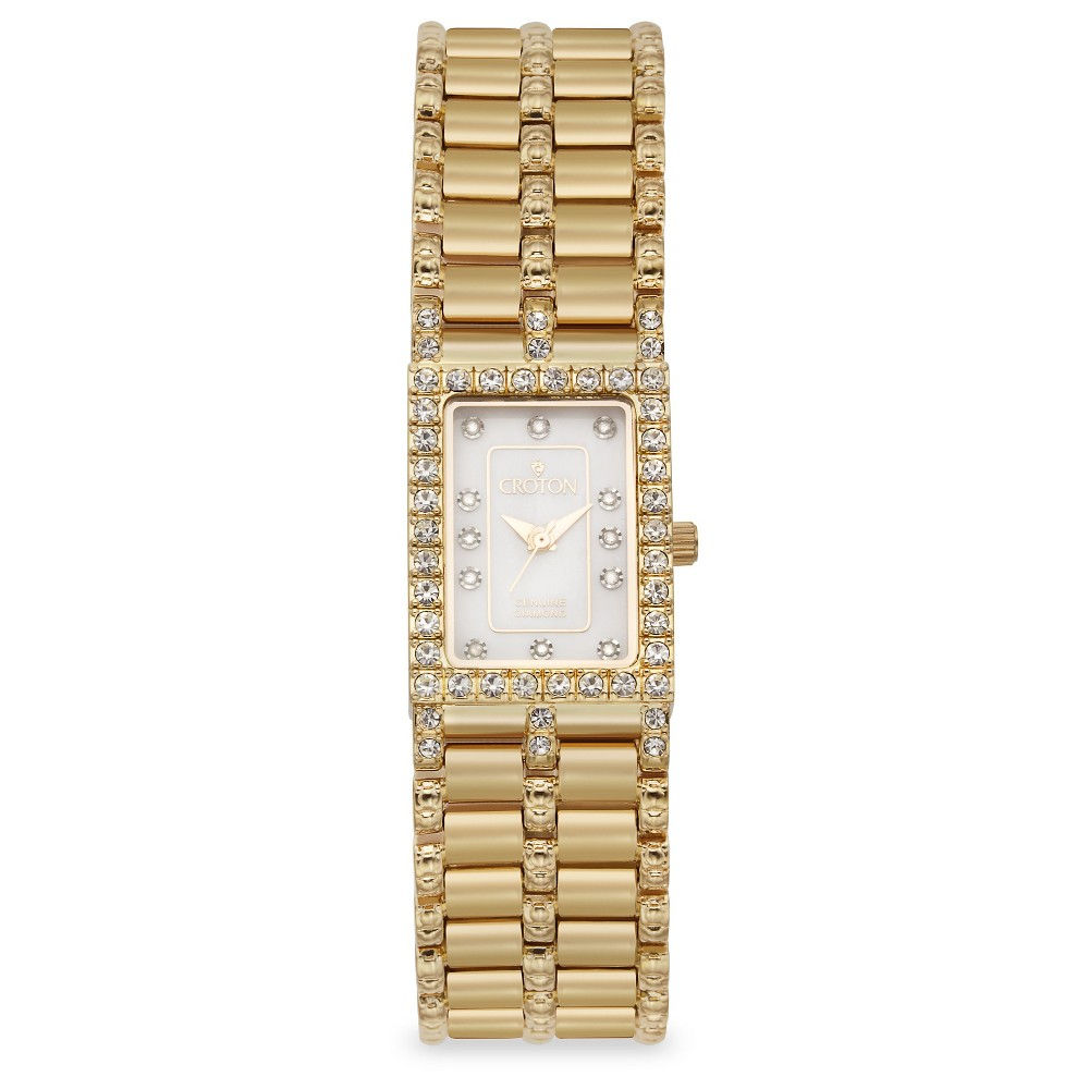 Croton Women's Brass Wristwatch - Gold