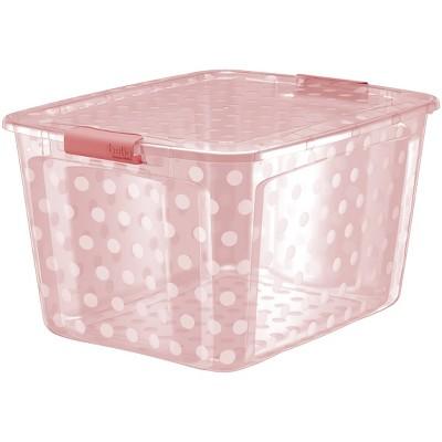 Bella Storage 80qt Utility Storage Bin Pink Dust