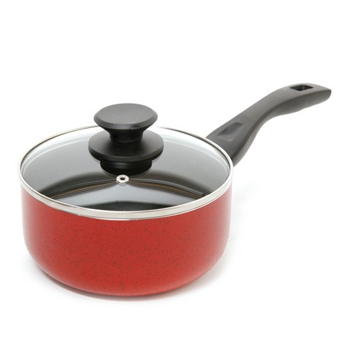 Oster Telford 2.5Qt Saucepan and Lid Red - image 1 of 1