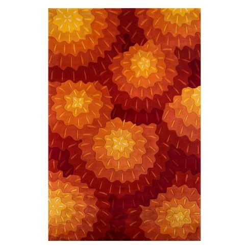"""9'6""""X13'6"""" Shapes Tufted Area Rug Orange - Momeni - image 1 of 4"""