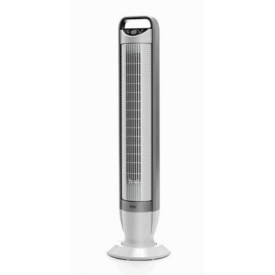 "Seville Classics UltraSlimline 40"" 3 Speed Oscillating Tower Fan With Tilt Feature White"