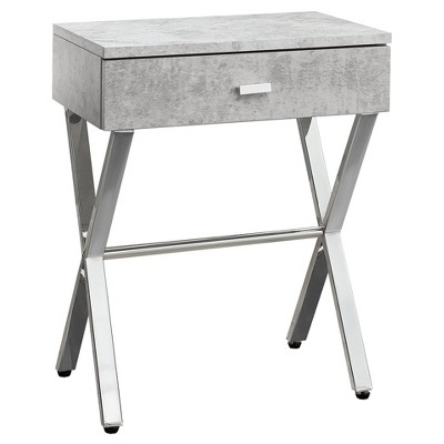 Accent Table, Night Stand - Chrome Metal - EveryRoom