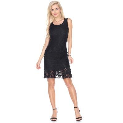 Women's Sleeveless Lace Cila Dress - White Mark