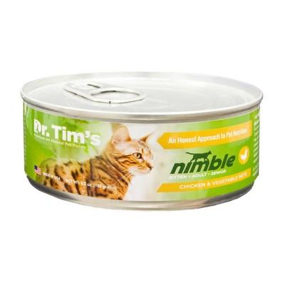 Dr. Tim's Paté Chicken & Vegetable Premium Wet Cat Food - 5.5oz/24ct Pack