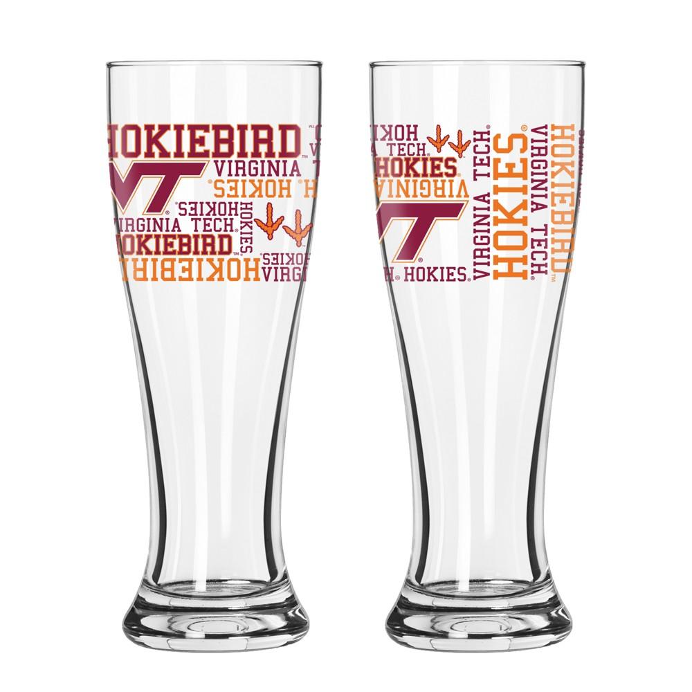 Virginia Tech Hokies 2pk Spirit Pilsner Glasses