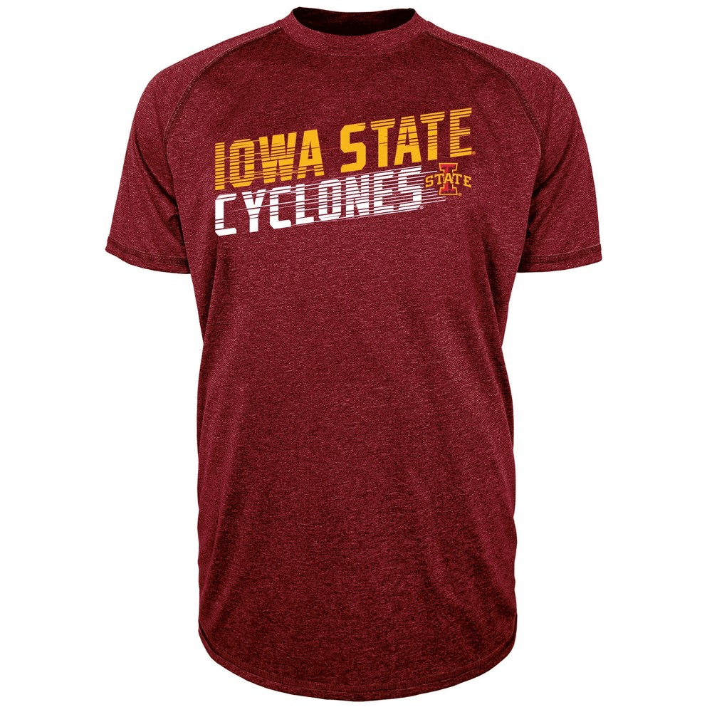 Iowa State Cyclones Men's Short Sleeve Raglan Performance T-Shirt - Xxl, Multicolored