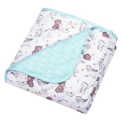 Trend Lab Reversible Baby Quilt - Fishing Bears