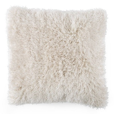 "24""x24"" Oversized Plush Faux Fur Square Throw Pillow - Yorkshire Home"