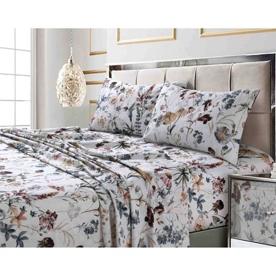 300 Thread Count Printed Pattern Sateen Sheet Set - Tribeca Living