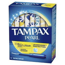 Tampax Pearl Regular Absorbency Tampons