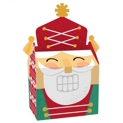 Big Dot of Happiness Christmas Nutcracker - Treat Box Party Favors - Holiday Party Goodie Gable Boxes - Set of 12