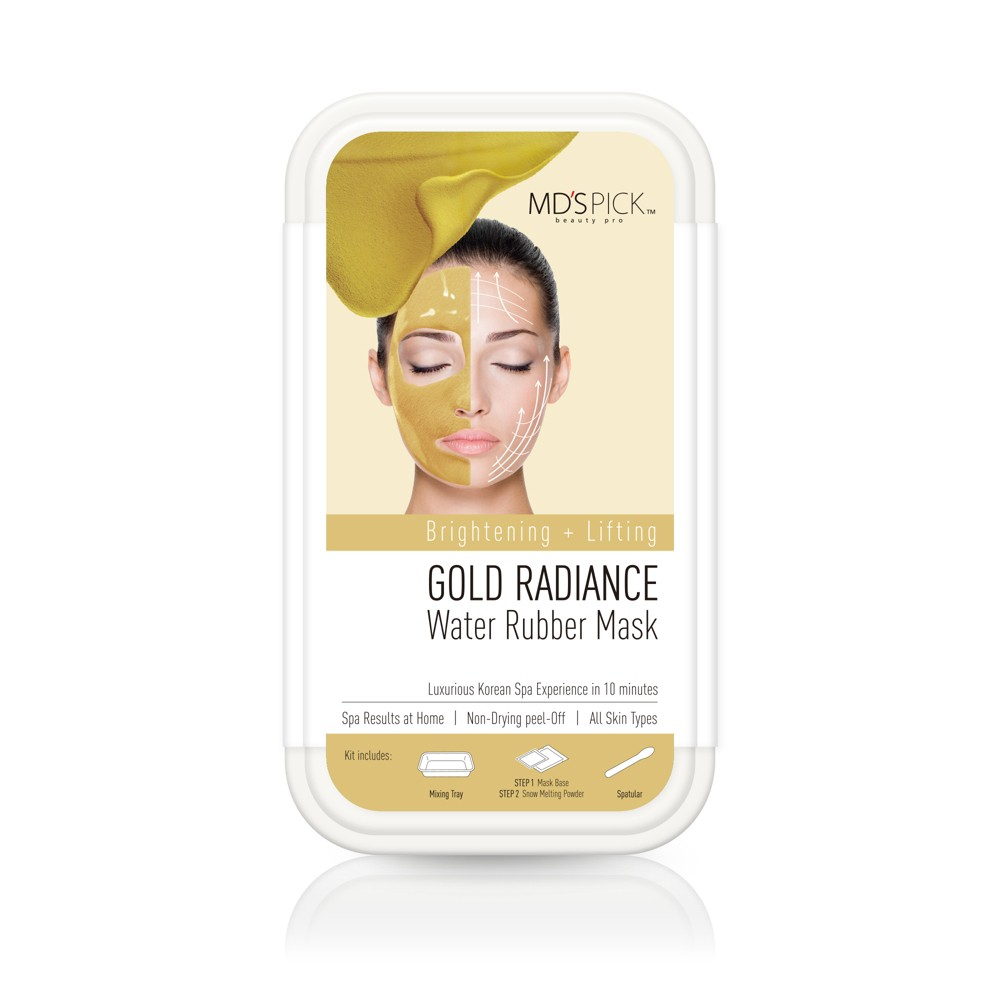 MD's Pick Water Rubber Mask - Gold Radiance - 1ct