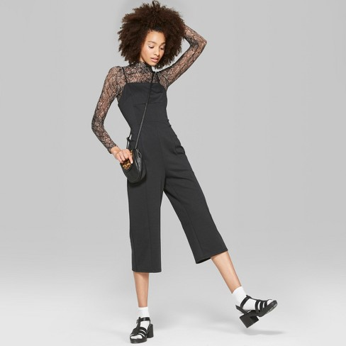 Women's Strappy Knit Jumpsuit - Wild Fable™ Black - image 1 of 3