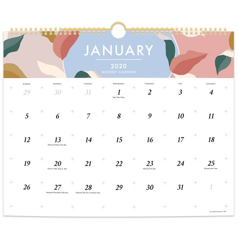 2020 Wall Calendar White - Create & Cultivate - image 1 of 4