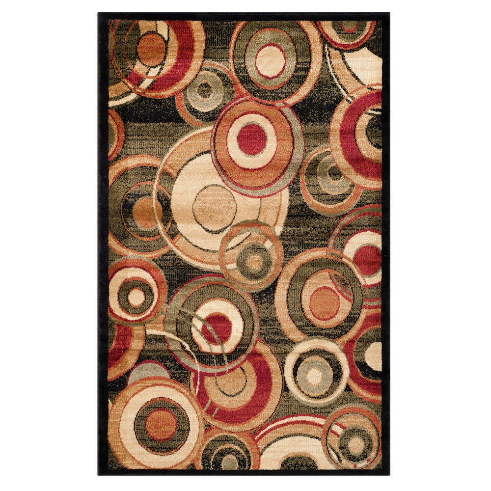 Floral Loomed Accent Rug 3 3 X5 3 Safavieh
