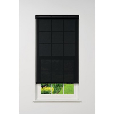 Linen Avenue Cordless 5% Solar Screen Standard Roller Shade, Black, Charcoal, and Gray