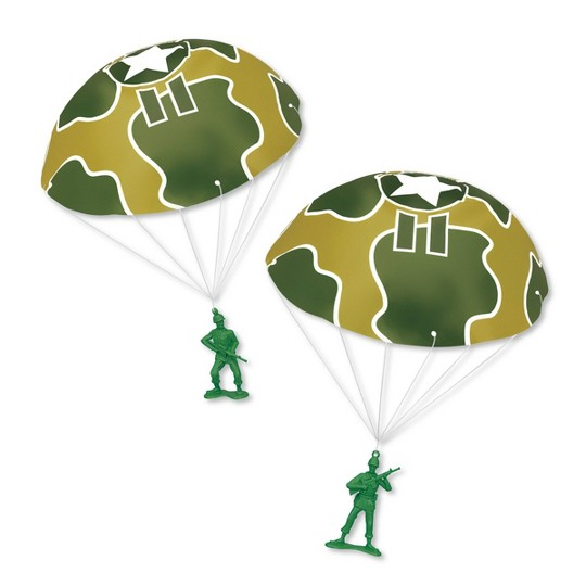 Disney Pixar Toy Story 4 Green Army Men 2pk with Parachutes image number null