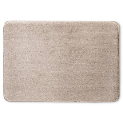 24  x 17  Velveteen Memory Foam Bath Rug Light Taupe - Room Essentials™
