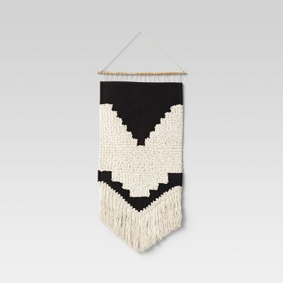 """18"""" x 30"""" Fringe Textured Woven Wall Hanging Natural - Threshold™"""