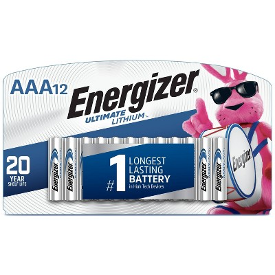 Energizer 12pk Ultimate Lithium AAA Batteries