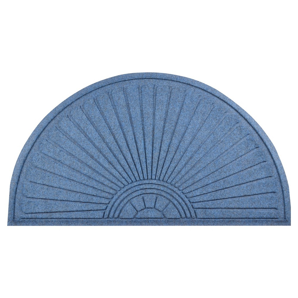 "Image of ""1'11""""X2'11"""" Guzzler Sunburst Doormat Slate Blue - Notrax, Size: 1'11""""x2'11"""""""