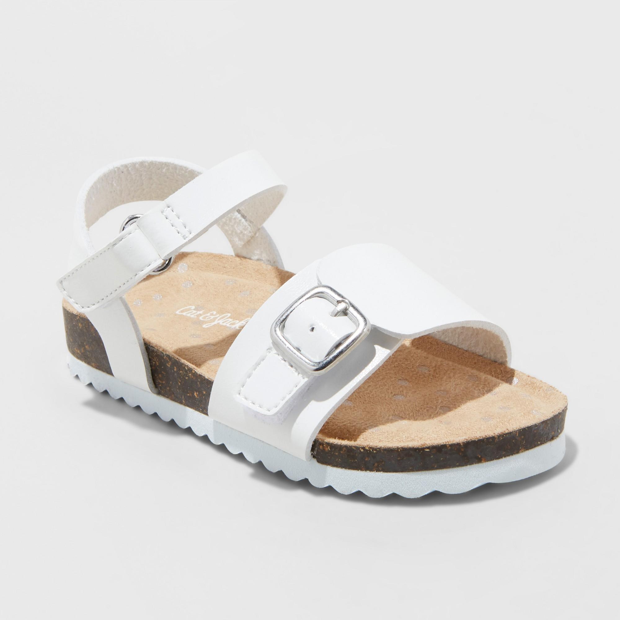 Toddler Girls' Berdie Comfort Footbed Sandals - Cat & Jack White 11