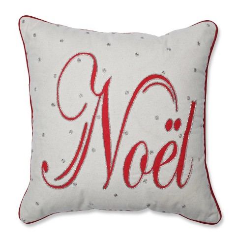 Jeweled Noel Square Throw Pillow - Pillow Perfect - image 1 of 4