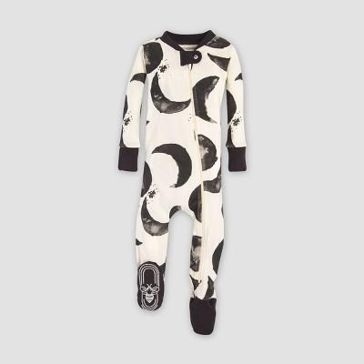 Burt's Bees Baby Organic Cotton Hello Moon! Footed Pajama Sleeper - Cream 3-6M