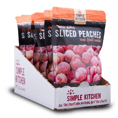 Wise Company Gluten Free Sliced Peaches Freeze Dried 8.4oz/6ct